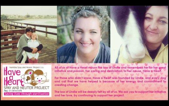 In memory of Lindie Prinsloo, Founder of HAH