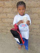 Ouedraogo Zoennabo with uniform & school supplies