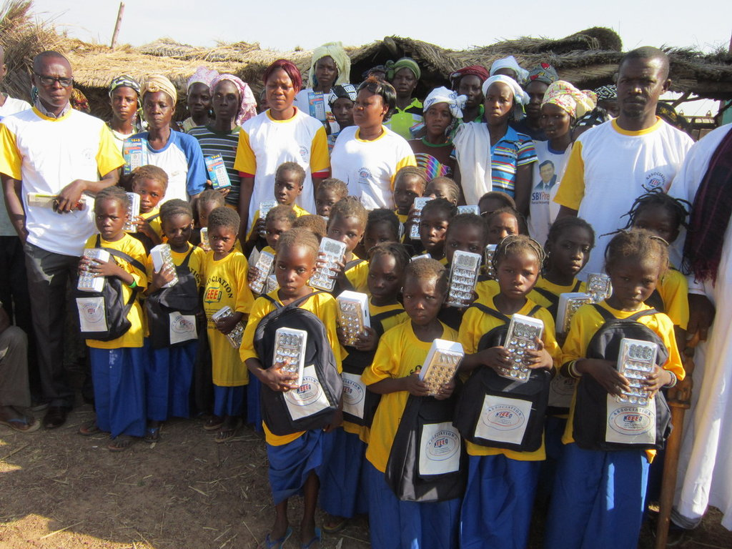 1st graders in Kouni village-built primary school
