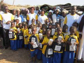 1st graders in Kouni village-built primary school