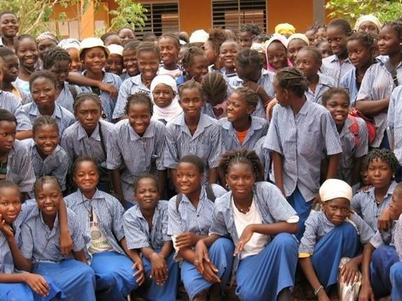 School girls in middle school