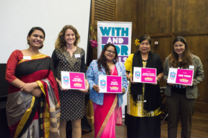 Women LEAD Founder Claire Naylor (2nd from left)