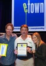 Ruston accepts eTown E-chievement Award