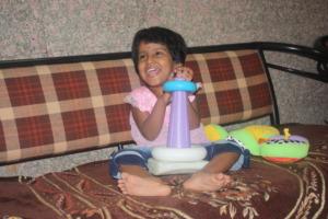 Kanishka is playing