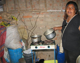 Dona Luisa and her new food stand.