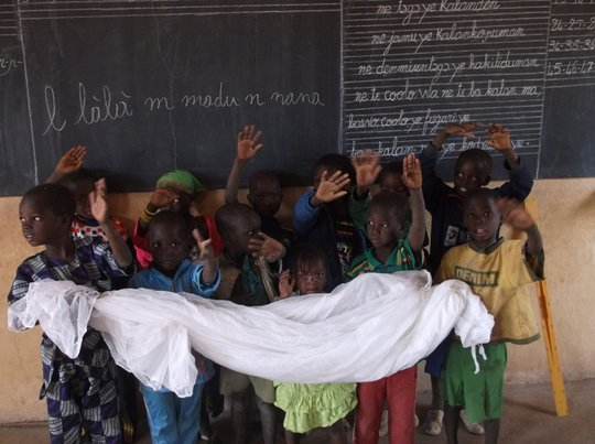 Students in Kaban learn about malaria