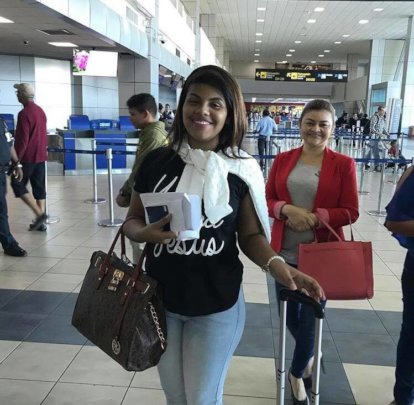 Yarelis on her way to NYC as an exchange student