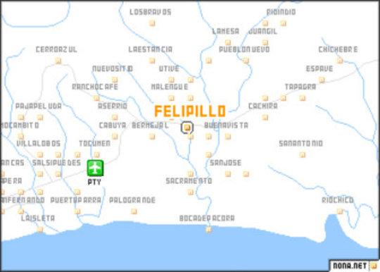 Map of Felipillo