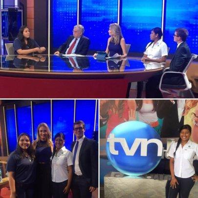 Las Claras on national television