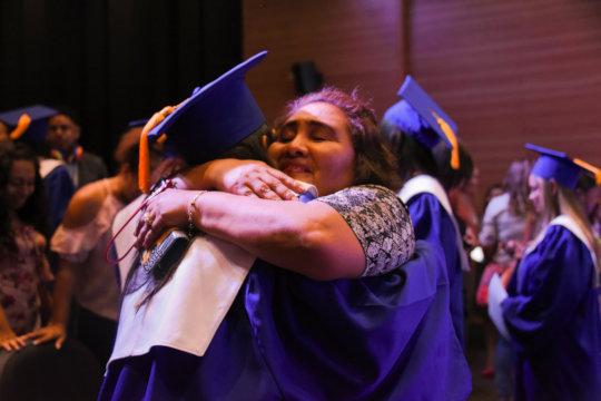 Proud parents at the graduation