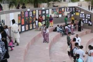 Gallery walk that showcased all the art work