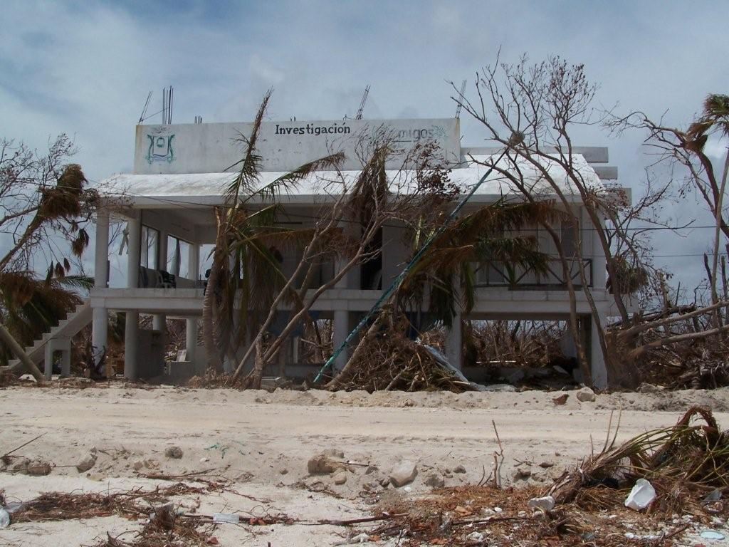 Local research base devastated by the heart of hurricane Dean