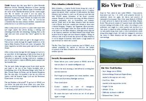 Brochure Rio View Trail in English (PDF)