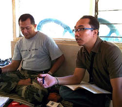 Adi and Agni discuss future plans with community