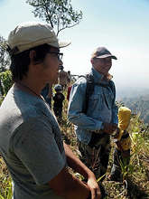 Gabe and Adi at the JFC reforestation area