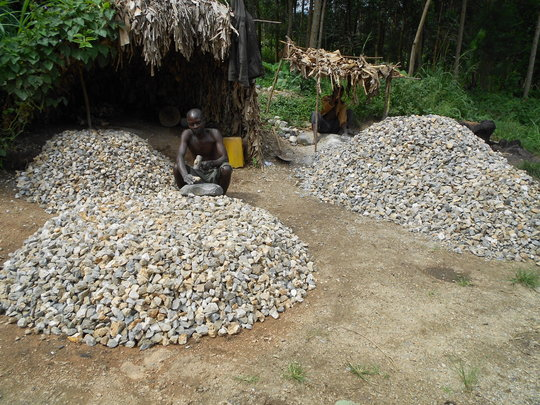 Stones collected for the project