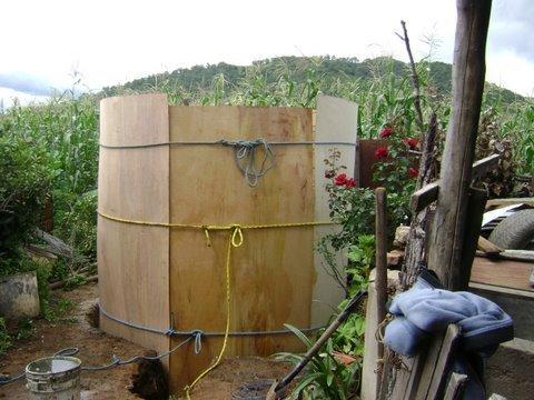 Cistern under construction