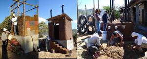 Composting toilets out of upcycled materials