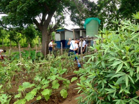 Irrigation system at La Chilama Elementary School