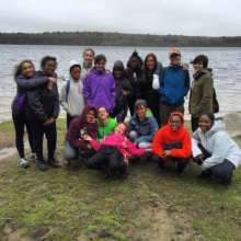 GOAL Girls hiking at Blue Hills Reservation, 5/16