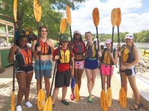 YES Teens at a Kayak Training