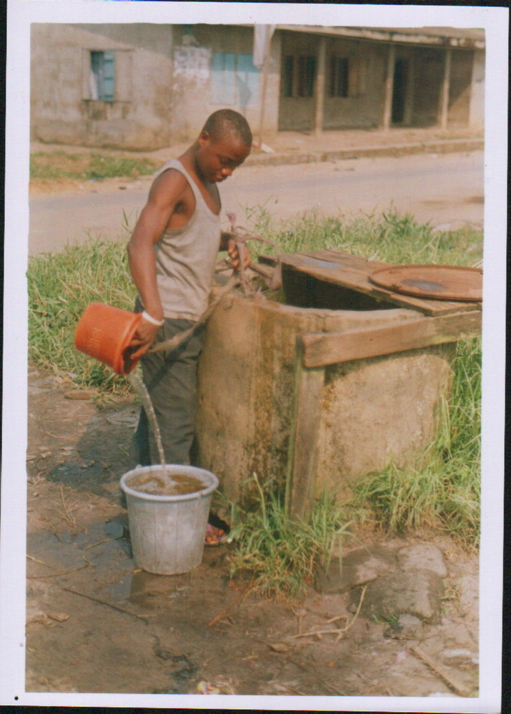 A typical water source in a local community where we work