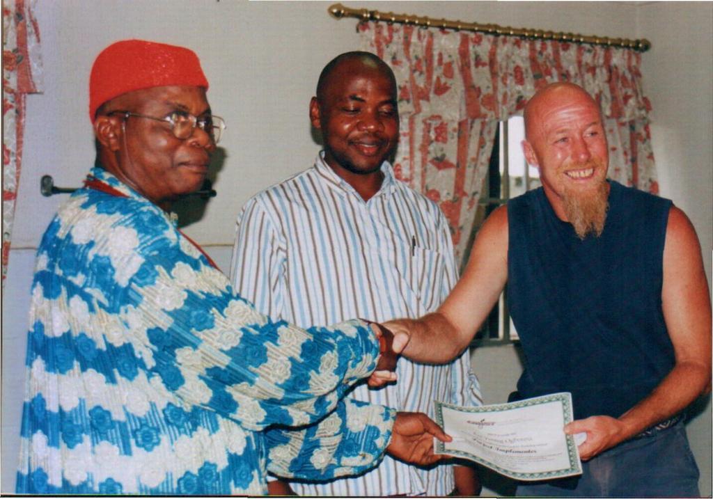 Ipu West Community ruler and us