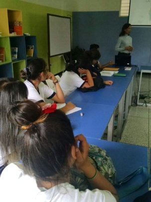 Young people attending class sessions