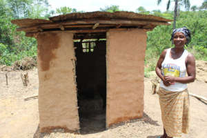 Latrine created through the CLTS program.