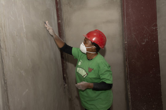 A CovenantLove Church member working on guesthouse