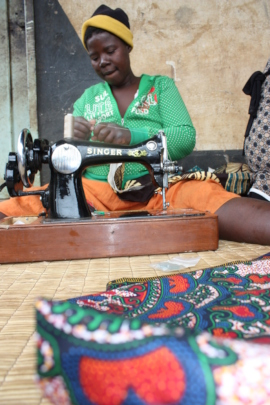 Sewing in Section 19, an informal settlement