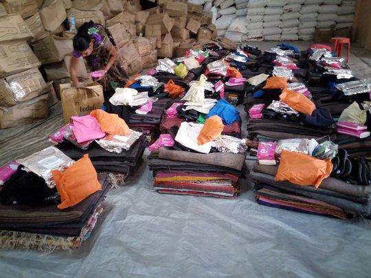 Winter kits being prepared..