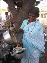 Bainabai began her own chai stall after taking Business School c