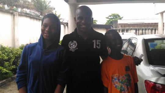 Damilola with his girls, Dami and Peace