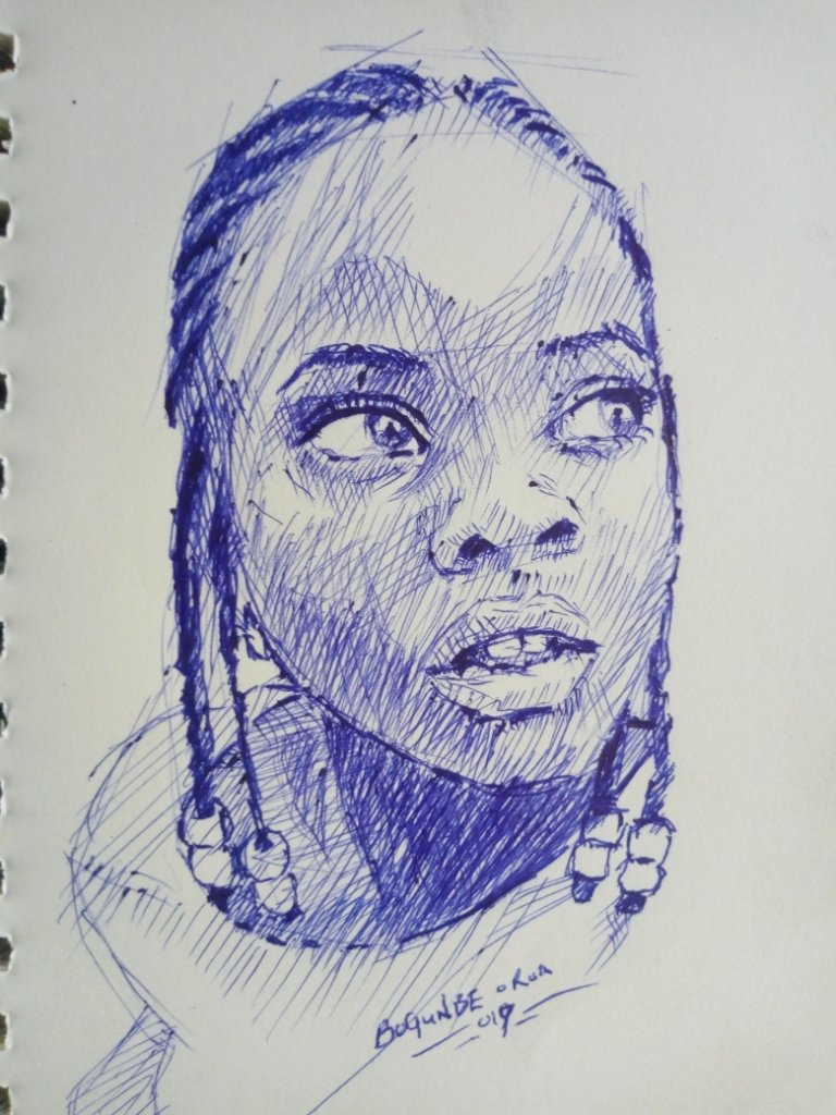 A sketch of a girl by Ramon