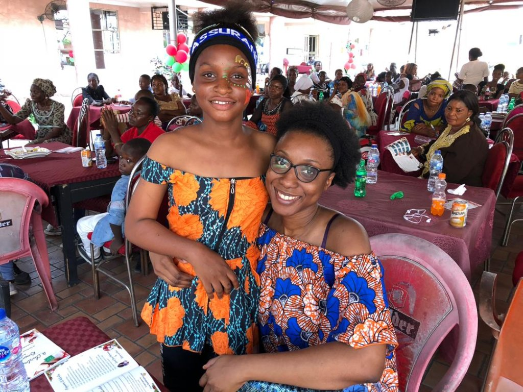 Uzo meets her sponsored child, Ufuoma