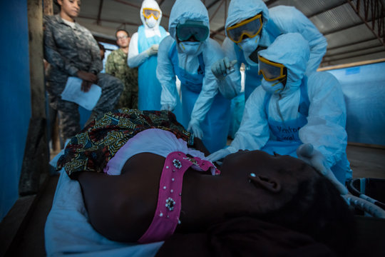 Josephine training Ebola Treatment Unit workers