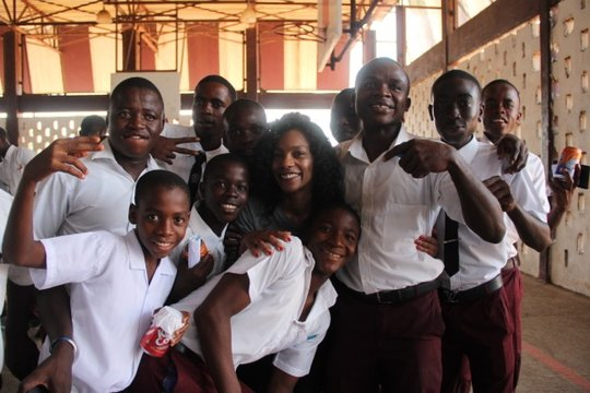 Program Director Meesha Brown in Liberia