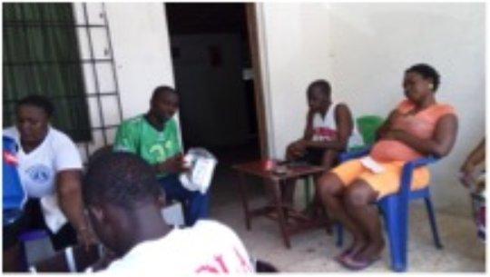 Ebola prevention outreach event, Liberia