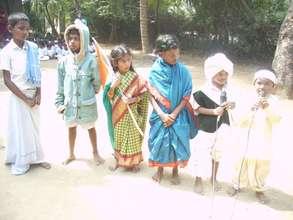 children in different dresses