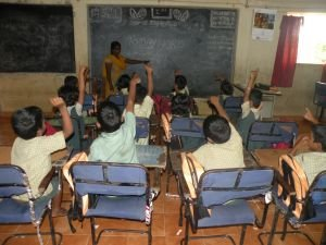 children in the class room