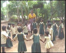 Dazzlingstone school children playing
