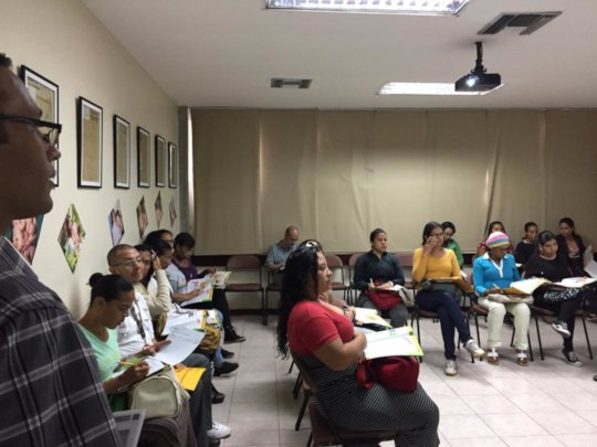 At classes with volunteers