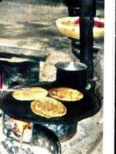 Preparation of food on fuel efficent stove