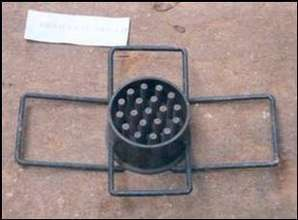 Frame of the stove