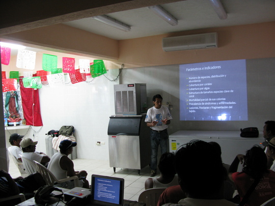Training workshop at the Fishing Cooperative
