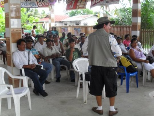 Puerto Barrios co-management approval meeting