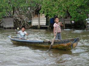 Future fishermen...uncertain.