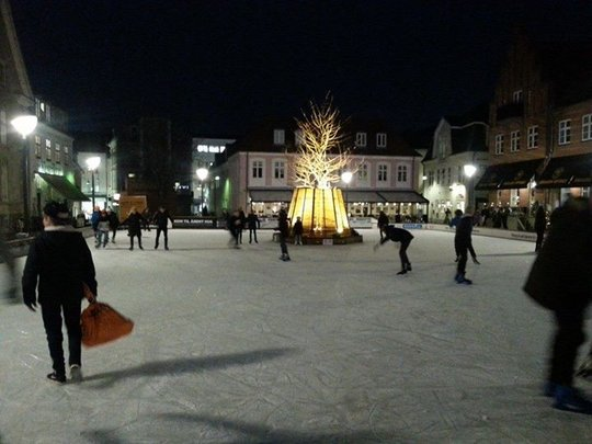 Ice skating with some of the children in Aarlborg
