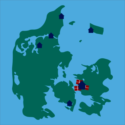 Map of all Child's Blue Houses